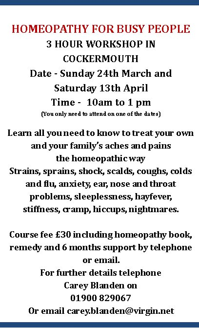 Homeopathy flyer 2013